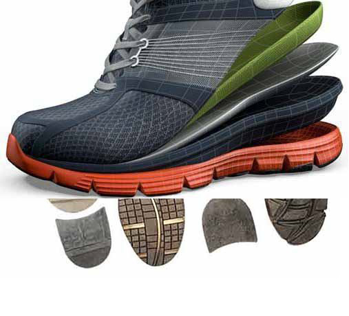 Features of different types of shoe soles